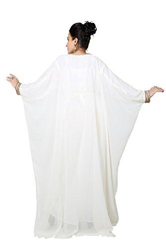 Largo Único Hombres Bedi Uae Vestido Farasha Árabe Kaftan White Tamaño Off kaf Style De Los Islámico 2940 wndq7Sd0B