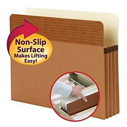 Smead 73208 Easy Grip Pockets, Redrope, Letter, 3 1/2