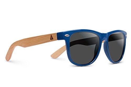de18f442fa2 Treehut blue wooden bamboo sunglasses temples classic bali retro square wood  sunglasses blue frame jpg 500x333