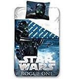 Parure de lit Star Wars Rogue One - Housse de couette réversible lit 1 personne