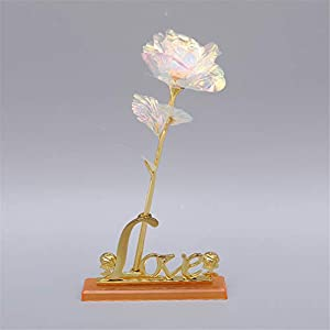Lovgrace 24k Gold Foil Rose Upscale Immortal Flower with Box Artificial Fake Roses Valentines Mother's Day Anniversary Birthday Gift 40