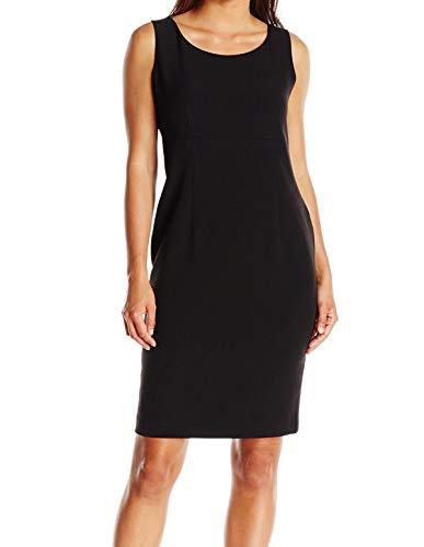 Kasper Women's Petite Size Stretch Crepe Sheath Dress, Black 4 ()