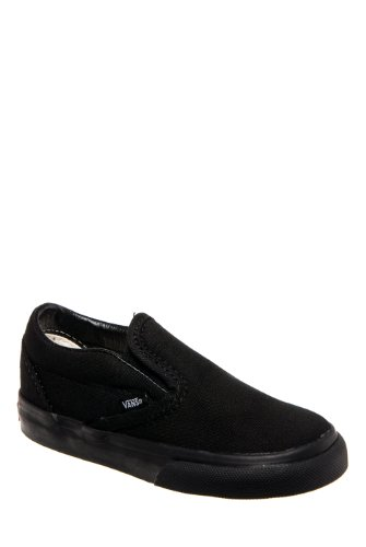 Vans Kids' Classic Slip-ON-K, Black, 4 M US Toddler