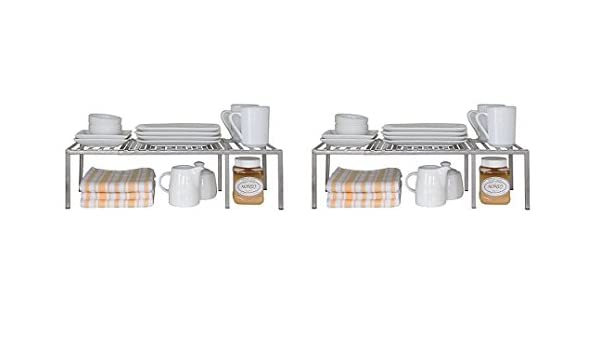 Seville Classics Expandable Kitchen Counter And Cabinet Shelf 2 Pack