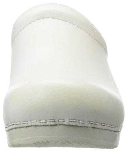 Sanita Sonja Pu Open - Zuecos Unisex adulto Blanco (White 1)