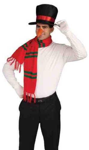 Carrot Nose (Forum Novelties Men's Snowman Costume Kit Hat Nose Scarf, Multi, One Size)