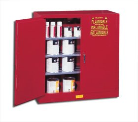 Justrite, Deluxe Class Iii Paint And Ink Safety Cabinets, H25400, Size H X W X D: 44 X 43 X 18