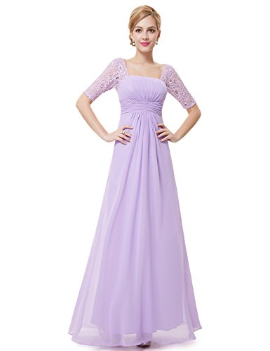 22ab691e51 Ever-Pretty Half Sleeve Square Neckline Ruched Waist Evening Dress 08038 -  Buy Online in UAE.
