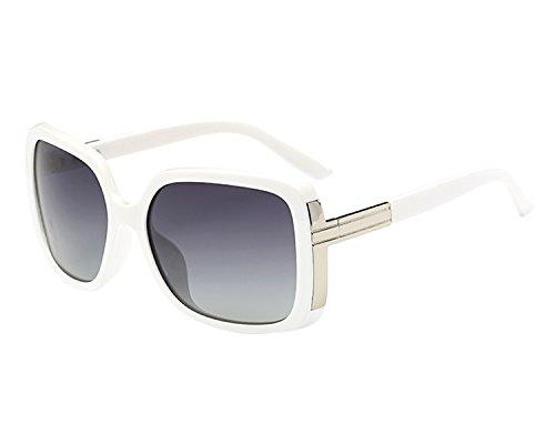 BVAGSS Sunglasses For Women Vintage Oversized Or Modern Glasses WS047 (White Frame, Grey Lens)
