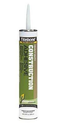 12 Pack Franklin 7472 Titebond GREENchoice Solvent Free Heavy Duty Construction Adhesive - 29-oz Cartridge