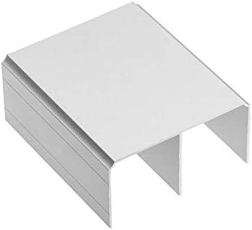 3 x rieles superiores de aluminio para puertas correderas de armario, color plateado: Amazon.es: Bricolaje y herramientas