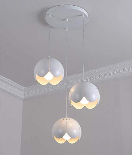 3 Heads Hanging Line Lamp Modern Minimalist Restaurant Chandelier LED Hollow Petals Shape Dining Kitchen Pendant Light