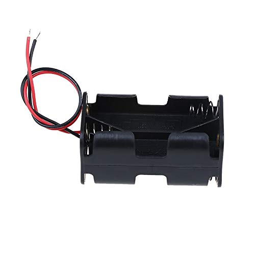 New Battery Case Holder Plastic Battery Holder Storage Box DIY Batteries Clip Holder Container with Wire Lead for Battery