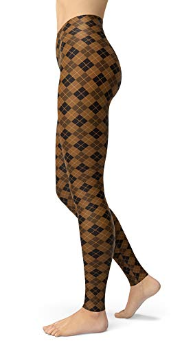Women's Checkered Plaid Printed Leggings Stretchy Brushed Buttery Soft Tights (One Size(XS-L/Size 0-12), Diamond)