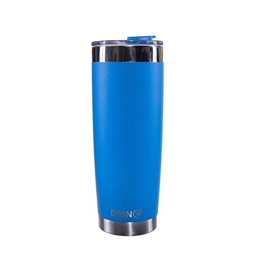 Drinco - Stainless Steel Tumbler | Double Walled Vacuum Insulated Mug With Spill Proof Lid For Hot & Cold Drinks | Blue | Perfect for Hiking, Camping & Traveling | - Ounce 20 Mug Travel Coffee