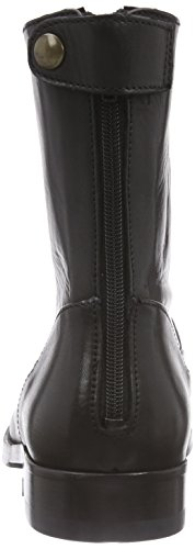 Leather negro Negro Back Mentormentor Zip Boot Mujer Botas 1xS0Yq