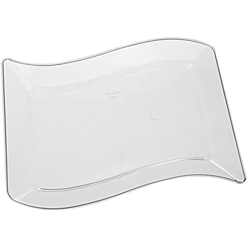 Fineline Settings Wavetrends Clear Rectangular-Wave China-Like 5.5  X 7.5  Plate 120 Pieces  sc 1 st  Amazon.com : luxury disposable plates - pezcame.com