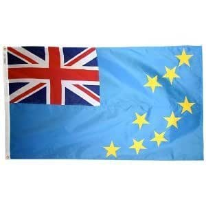 Annin Flagmakers 1986353pies x 5pies. Nyl-Glo bandera de Tuvalu