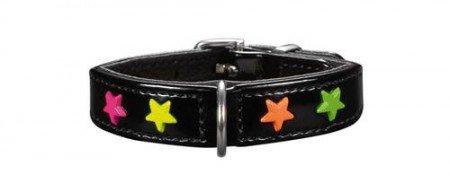 (HUNTER Modern Art Miami Mini Faux Leather Collar, Size 24, Black)