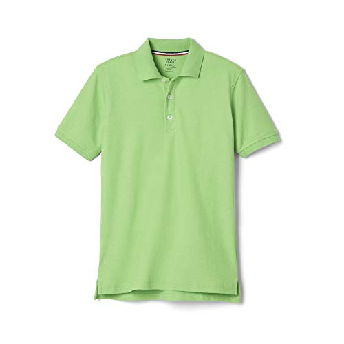 French Toast Big Boys' Short Sleeve Pique Polo, Lime Green, Large/10/12