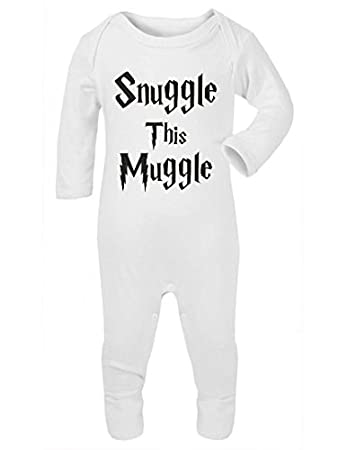SNUGGLE THIS MUGGLE HARRY POTTER BLACK COTTON BABY VEST