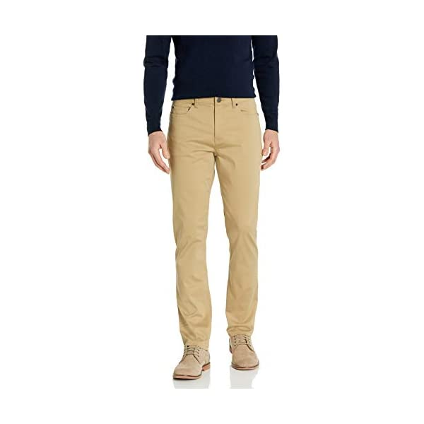 casual-pants Hombre Buttoned Down Straight-fit 5-pocket Easy Care Stretch Twill Chino Pant Marca