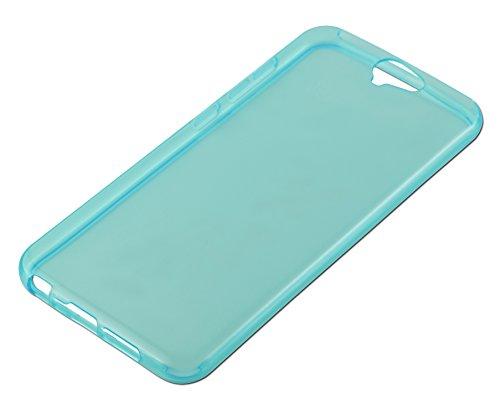 Cadorabo - HTC ONE A9 Cubierta protectora de silicona TPU en diseño AIR - Case Cover Funda Carcasa Protección en TRANSPARENTE-LILA TRANSPARENTE-AZÚL