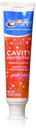 (Crest Kid's Crest Cavity Protection Toothpaste Gel Formula, Bubblegum, 4.2 Ounce (Pack of 3))