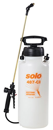 Solo 487-CI 3-GallonHandheld Acetone Tank Sprayer with EPDM Seals for Use in Concrete Preparation &Treatment (Concrete With Staining Patio Sprayer)