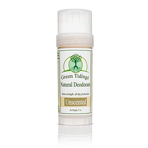 Green Tidings Organic All Natural Deodorant, Unscented, 2.7 Ounces (Best Rated Natural Deodorant)