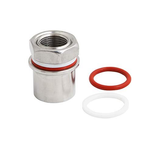 1/2 Kettle Faucet - Stainless Steel Bulkhead FPT 1/2