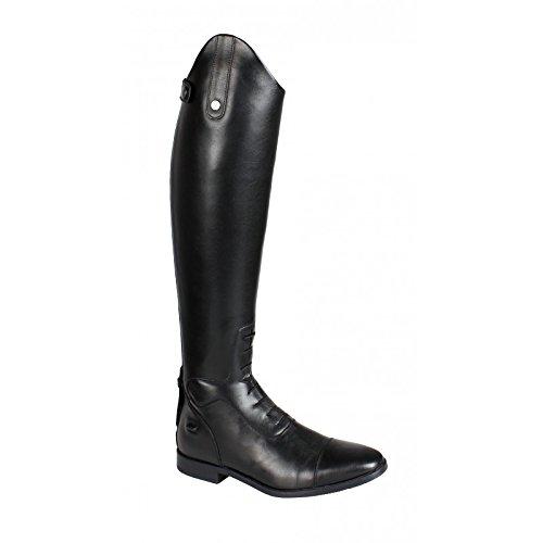 QHP Damen Luxus Leder-Reitstiefel Verena mit mehr Komfort Große Wadenweite