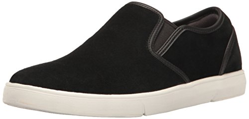 CLARKS Men's Lander Step Slip-on Loafer, Black, 10 M (Authentic Mens Leather Loafers Shoes)