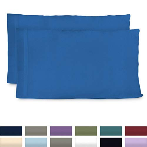 Cosy House Collection Premium Bamboo Pillowcases - Standard, Royal Blue Pillow Case Set of 2 - Ultra Soft & Cool Hypoallergenic Blend from Natural Bamboo -