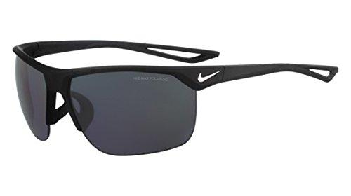 Nike Golf Trainer P Sunglasses, Matte Black/Silver Frame, Polarized Grey - Polarized Sunglasses Nike For Men