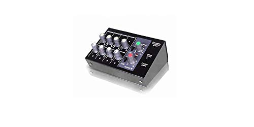 Naphon 4 Stereo / 8 Mono Channel Mini Mixer With Mono/Stereo Mode and 9V Battery Powered Outputs And AC Adapter N-8 (N8 Battery)