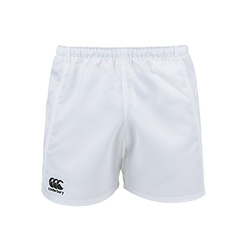 White Rugby Shorts - Canterbury Men's Advantage Shorts, White, Medium