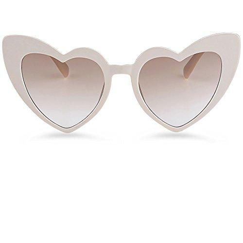 Buauty Heart Shaped Sunglasses Vintage Retro Style Cat Eye UV Sunglasses