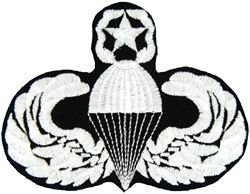 U.S. Army Master Paratrooper Wings Patch