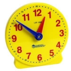Toy / Game Learning Resources Big Time 12-Hour Student Clock - Grasp Time-Telling Skills Activity Guide & More by 4KIDS