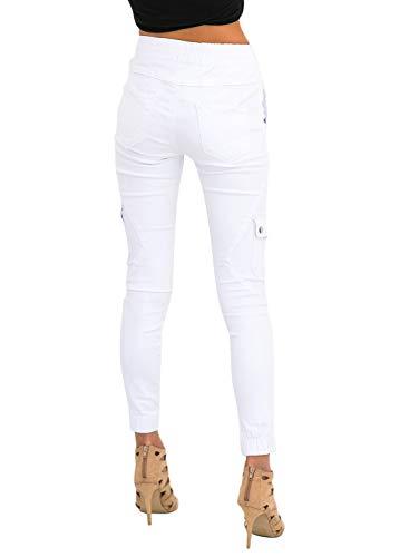A Mujeres Jibo Pantalón Pantalones Pie De Las Multibolsillo Elástica Pies Apretado Pequeños Cintura Delgado Y Mujer U6UwqZ