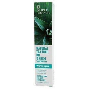Desert Essence Natural Tea Tree Oil and Neem Toothpaste, 176g (6.25 OZ)