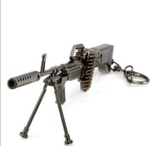 Call Of Duty Counter Strike Cross Fire M60 Mš¢quina miniatura del arma con la correa de la bala Modelo Llavero Militar Ventilador colgante de regalo: ...