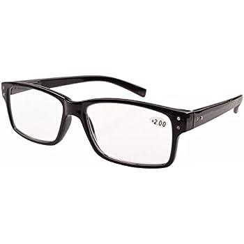 f53dfea775ad Eyekepper Spring Hinges Vintage Reading Glasses Men Readers Black +1.0