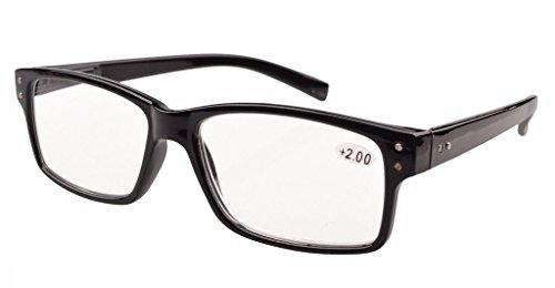 Eyekepper Spring Hinges Vintage Reading Glasses Men Readers Black +1.0