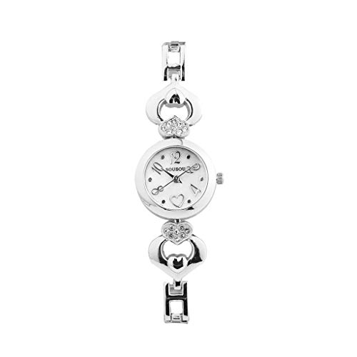 Women Stylish Watches,Classic Simple Ultra Thin Dress Watch for Ladies Small Dial Case with Crystal Accents Arabic Number Alloy Metal Bracelet Wristwatches (B)