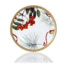 Charter Club Holly Berry Round Appetizer Plate