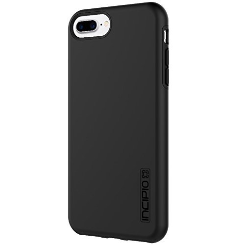 iPhone 8 Plus Case, iPhone 7 Plus Case, Incipio Premium DualPro Shockproof Hard Shell Hybrid Rugged Dual Layer Protective Outer Shell Shock and Impact Absorption Cover (5.5 Inch) - Black/Black (Hard Shell Case For Iphone 6 Plus)