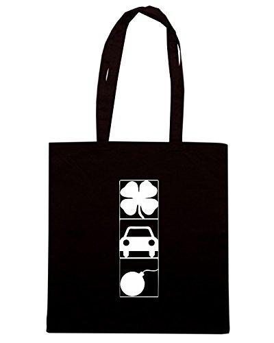 T-Shirtshock - Bolsa para la compra TIR0032 dark tshirt (4) Negro