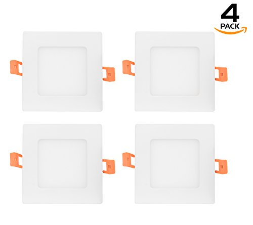 Cheap Westgate 15W 6″ Inch Ultra Thin Slim Recessed Lighting Kit Square Shaped Dimmable LED Retrofit Downlight – NO HOUSING REQUIRED With External Junction Box Included – (4 Pack, 3000K Soft White)